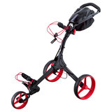 Big Max IQ+ Golftrolley, Zwart/Rood