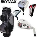 Skymax IX-5 Complete Golfset Heren Graphite met Cartbag Zwart/Grijs