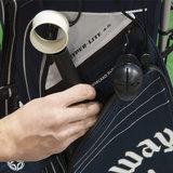 Past makkelijk in zijvak golftas