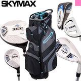 Skymax IX-5 Complete Golfset Dames Graphite met Cartbag Zwart/Lichtblauw