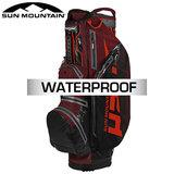 Sun Mountain H2NO Lite Waterdichte 14-Vaks Cartbag Antraciet Rood