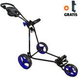 Fastfold Comp 5000 Golftrolley, Zwart/Blauw