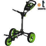 Fastfold Flat Golftrolley, Zwart/Lime