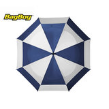 Bagboy Telescopic Umbrella Blauw/Wit