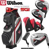 Wilson SGI Prostaff Golfset Heren Graphite & Exo Cart Bag Zwart/Zilver/Rood