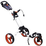 Fastfold 360 Golftrolley Wit/Oranje