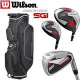 Wilson SGI Prostaff Deluxe Complete Golfset Heren Graphite & Prostaff Cartbag Zwart NEW 2019