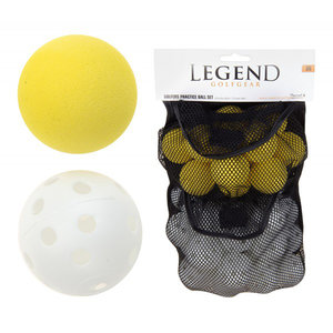 Plastic Holle + Foam Golfballen