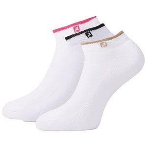 Footjoy ComfortSof Sportlet Golfsokken Wit