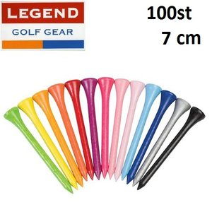 100 Houten Gekleurde Golf Tees 7 cm