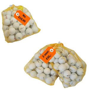 50 Lakeballs A-Kwaliteit Golfballen