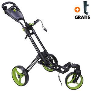 Fastfold 360 Golftrolley, Zwart/Lime