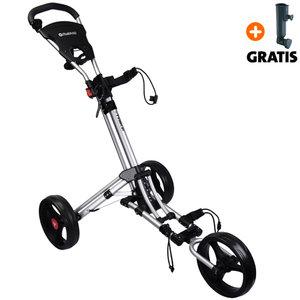 Fastfold Trike 3-Wiel Golftrolley, Zilver