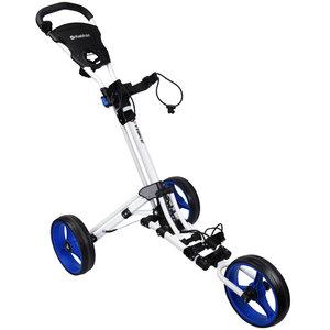Fastfold Trike 3-Wiel Golftrolley, Wit/Blauw