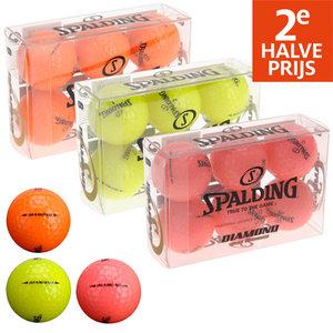 Spalding Diamond Soft Distance 6-stuks Golfballen