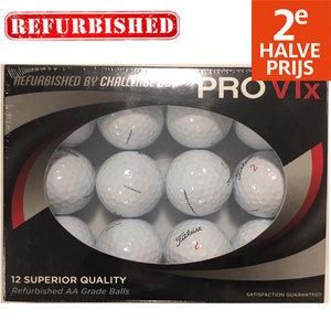 Perfect Lakeballs Titleist Pro V1x Refurbished Golfballen, 12 Stuks Wit