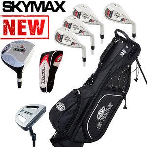 Skymax Ice IX-5 Halve Golfset Heren Staal met Zwarte Standbag