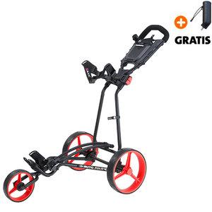 Big Max Autofold+ Golftrolley, Zwart/Rood